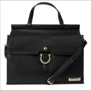 🆕 Tahari Purse Glamper Flap Satchel Black Purse